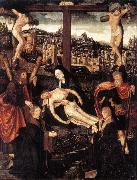 CORNELISZ VAN OOSTSANEN, Jacob Crucifixion with Donors and Saints fdg oil painting artist