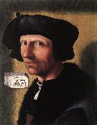 CORNELISZ VAN OOSTSANEN, Jacob Self-Portrait dfgd oil painting artist