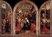 CORNELISZ VAN OOSTSANEN, Jacob Triptych of the Adoration of the Magi fd oil painting artist