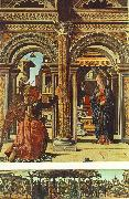 COSSA, Francesco del Annunciation and Nativity (Altarpiece of Observation) df oil painting artist