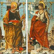 COSSA, Francesco del St Peter and St John the Baptist (Griffoni Polyptych) drg oil painting artist