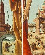 COSSA, Francesco del St Peter and St John the Baptist, details (Griffoni Polyptych) sdf oil painting artist