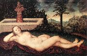 CRANACH, Lucas the Elder Reclining River Nymph at the Fountain fdg oil painting picture wholesale