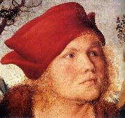 CRANACH, Lucas the Elder Portrait of Dr. Johannes Cuspinian (detail) dfg Sweden oil painting reproduction