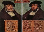CRANACH, Lucas the Elder Portraits of Johann I and Frederick III the wise, Electors of Saxony dfg Sweden oil painting reproduction