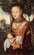 CRANACH, Lucas the Elder Young Mother with Child dfhd oil painting picture wholesale