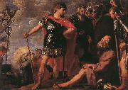 CRAYER, Gaspard de Alexander and Diogenes fdgh oil