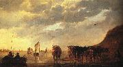 CUYP, Aelbert Herdsman with Cows by a River dfg oil painting picture wholesale