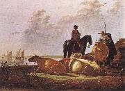 CUYP, Aelbert Peasants with Four Cows by the River Merwede dfg oil painting picture wholesale