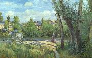 Camille Pissaro Sunlight on the Road, Pontoise oil painting picture wholesale