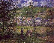 Camille Pissaro Landscape at Chaponval oil painting picture wholesale