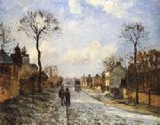 Camille Pissarro The Road to Louveciennes oil painting artist