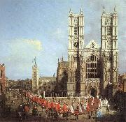 Canaletto London: Westminster Abbey, with a Procession of Knights of the Bath  f oil painting picture wholesale