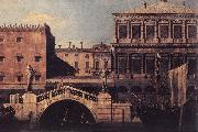 Canaletto Capriccio: The Ponte della Pescaria and Buildings on the Quay d oil painting picture wholesale
