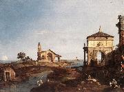 Canaletto Capriccio with Venetian Motifs df oil painting picture wholesale