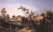 Canaletto View of a River, Perhaps in Padua df oil painting picture wholesale