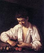 Caravaggio Boy Peeling a Fruit df Sweden oil painting reproduction