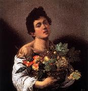 Caravaggio Boy with a Basket of Fruit f oil painting picture wholesale