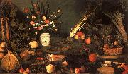 Caravaggio Still Life with Flowers Fruit oil painting artist