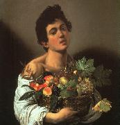 Caravaggio Youth with a Flower Basket oil painting artist