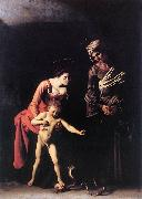 Caravaggio Madonna with the Serpent oil painting picture wholesale
