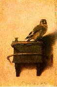 Carel Fabritus The Goldfinch oil