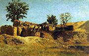 Carlos de Haes Tileworks in the Principe Pio Mountains oil