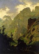 Carlos de Haes The Peaks of Europe,  The Mancorbo Canal oil