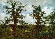 Caspar David Friedrich Landscape with Oak Trees and a Hunter oil painting picture wholesale