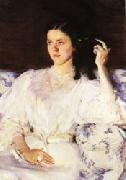 Cecilia Beaux Sita and Sarita(Girl with a Cat) oil painting artist