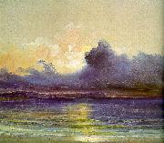 Charles Blechen Sunset at Sea oil