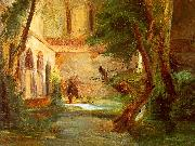 Charles Blechen Monastery in the Wood oil