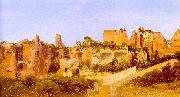 Charles Blechen The Ruins of the Septizonium on the Palatine in Rome oil