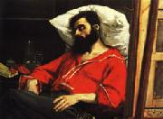 Charles Carolus - Duran The Convalescent ( The Wounded Man ) oil