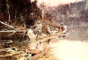Charles M Russell On the Flathead oil painting picture wholesale