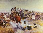 Charles M Russell Bronc to Breakfast oil painting picture wholesale
