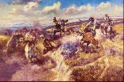 Charles M Russell Tight Dalley and a Loose Latigo oil painting picture wholesale