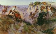 Charles M Russell The Wild Horse Hunters oil painting picture wholesale
