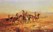 Charles M Russell Sun River War Party oil painting picture wholesale