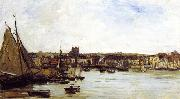 Charles-Francois Daubigny Port of Dieppe oil painting picture wholesale