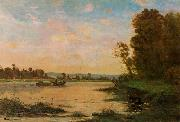 Charles-Francois Daubigny Summer Morning on the Oise oil painting picture wholesale