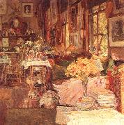 Childe Hassam The Room of Flowers Sweden oil painting reproduction