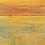 Childe Hassam Sunset at Sea oil painting picture wholesale