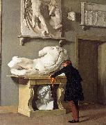 Christen Kobke The View of the Plaster Cast Collection at Charlottenborg Palace oil painting picture wholesale