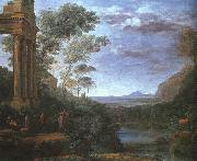 Claude Lorrain Landscape with Ascanius Shooting the Stag of Silvia oil painting picture wholesale