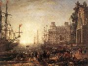 Claude Lorrain Port Scene with the Villa Medici dfg oil painting artist