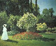 Claude Monet Jeanne-Marguerite Lecadre in the Garden oil painting picture wholesale