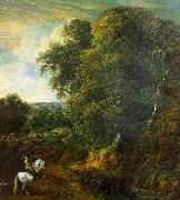 Corneille Huysmans Landscape with a Horseman in a Clearing oil painting artist