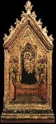 DADDI, Bernardo Madonna and Child Enthroned with Angels and Saints dfg oil