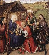 DARET, Jacques Altarpiece of the Virgin dfdsg oil